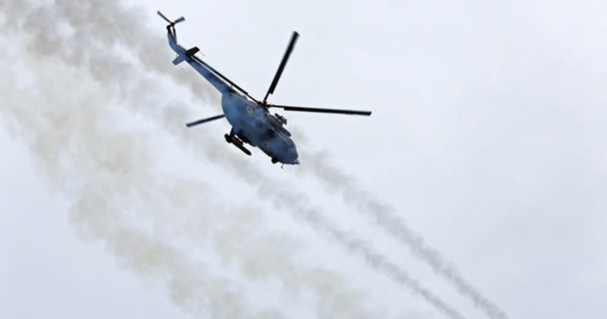 Пуски некерованих ракет з гелікоптерів Мі-2МСБ та Мі-8МСБ