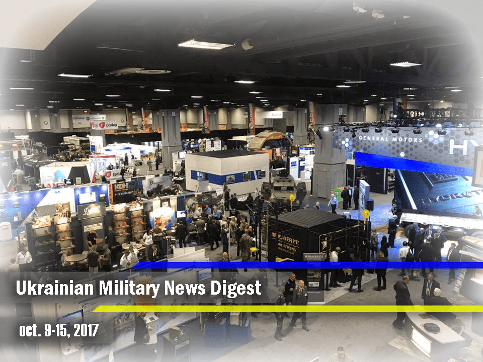 Ukrainian Military News Digest for oct. 9-15, 2017