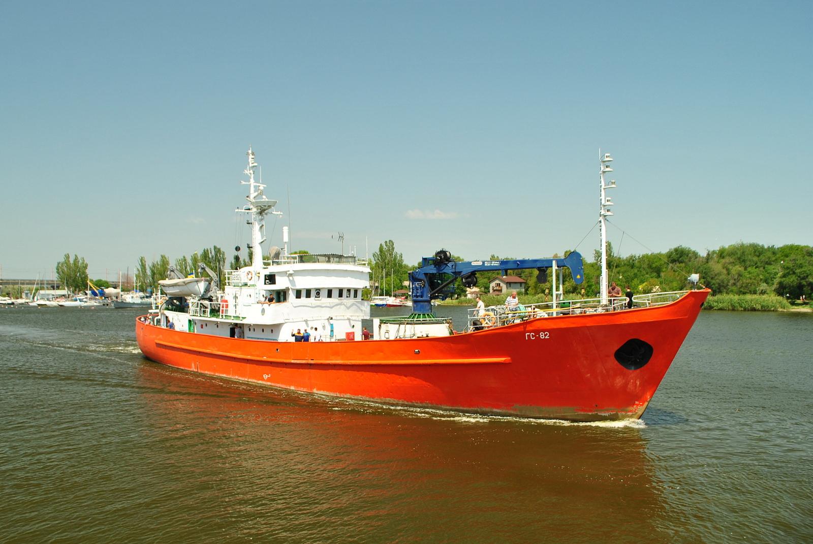 Гідрографічне судно ГС-82 зайшло на капітальний ремонт