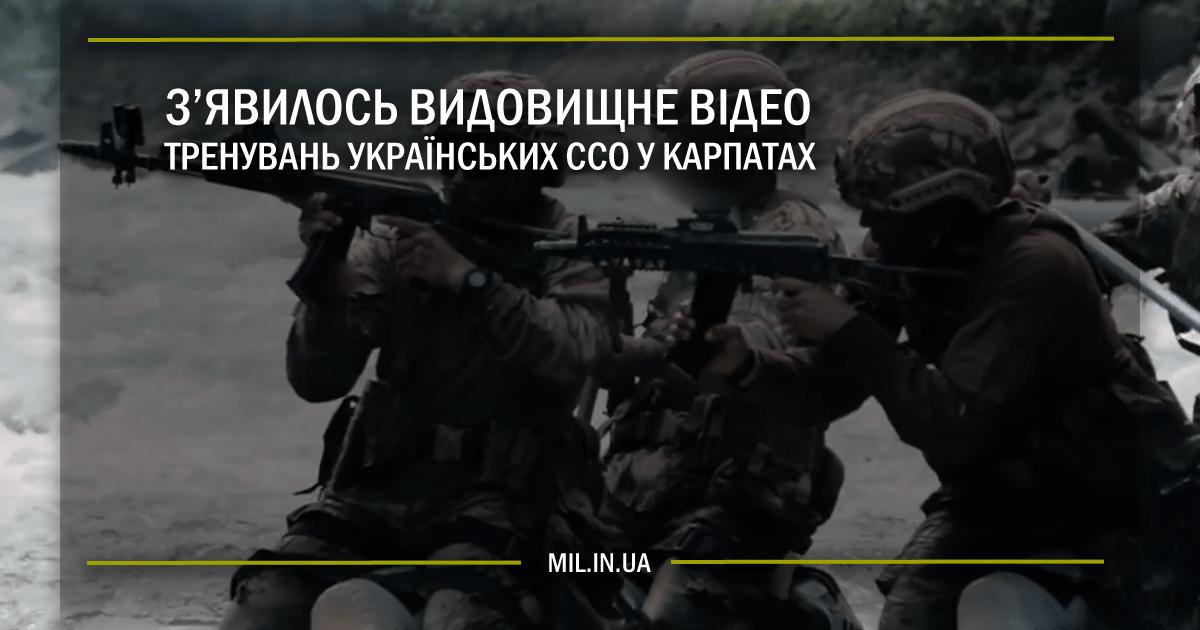 З'явилось видовищне відео тренування українських ССО у Карпатах