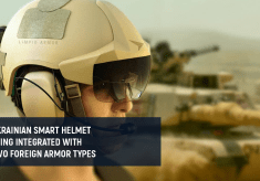 Ukrainian smart helmet being integrated with two foreign armor types