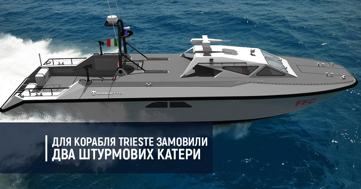 Для корабля Trieste замовили два штурмові катери