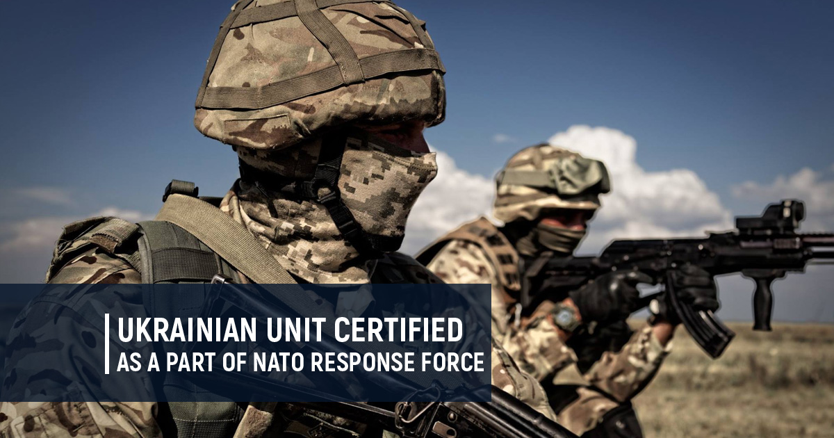 Ukrainian unit certified as a part of NATO Response Force