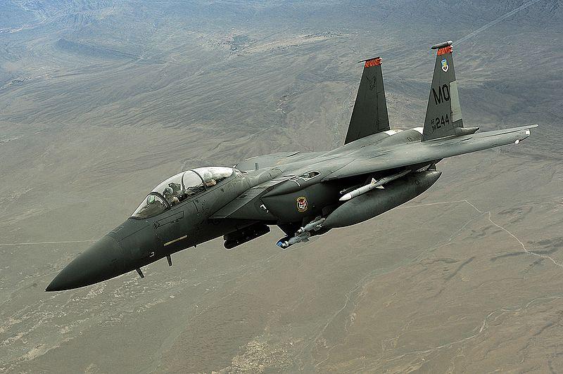 Американський винищувач F-15 розбився в Лівії