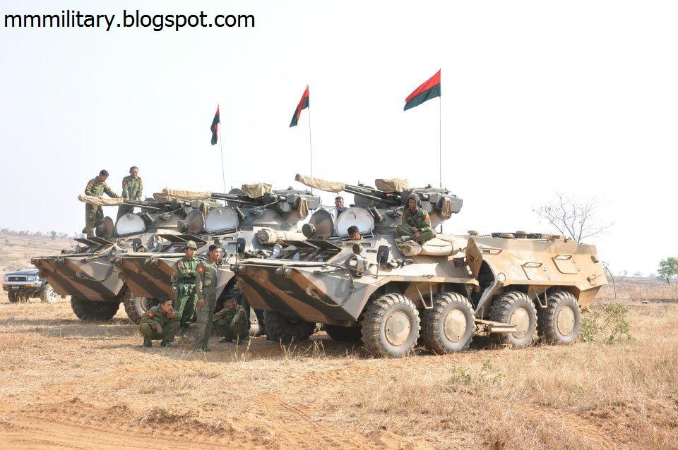 БТР-3Е на службі армії М'янми