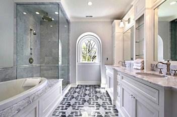 Stylish white bathroom.