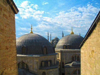 View of the Blue Mosque from Hagia Sofia