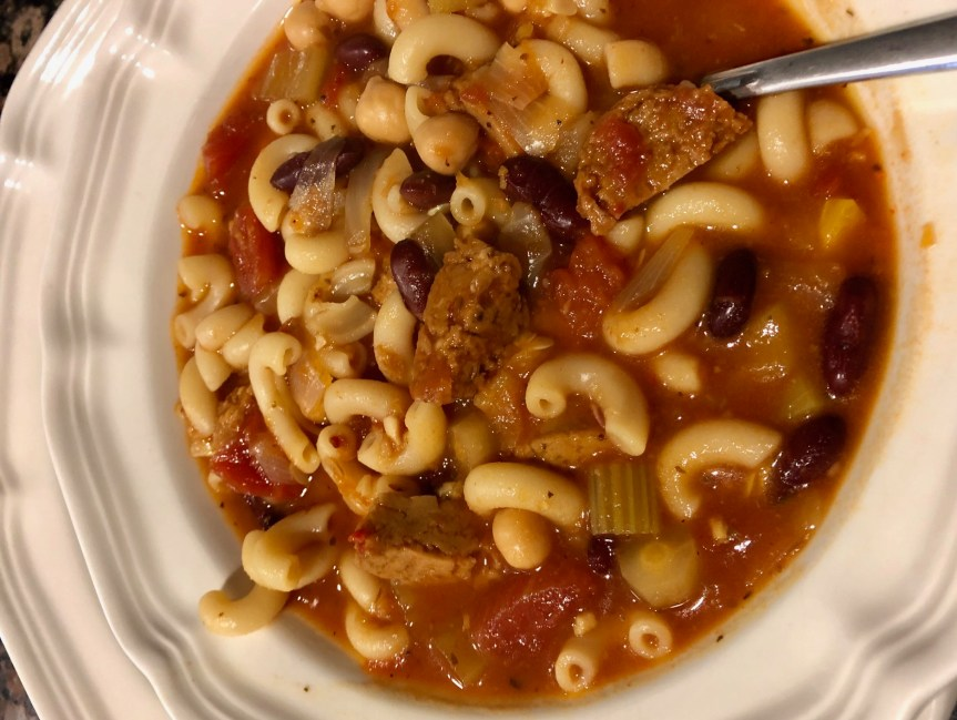 Meatless Monday: Instant Pot Pasta e Fagioli Soup (vegan!)