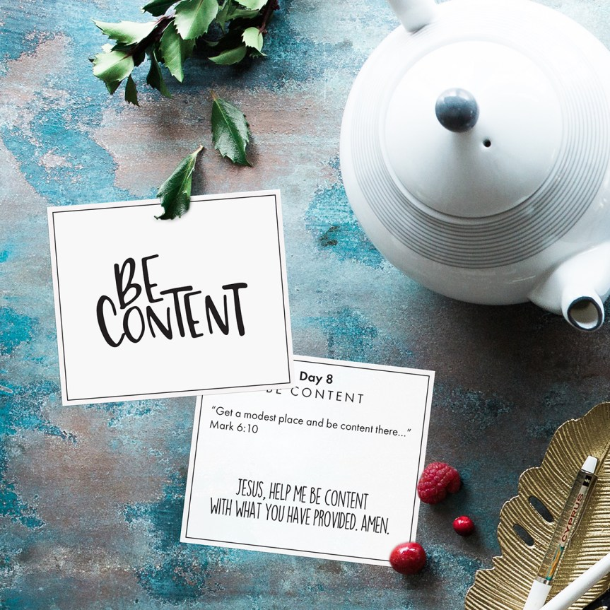 Advent 2: Be Content (2019)