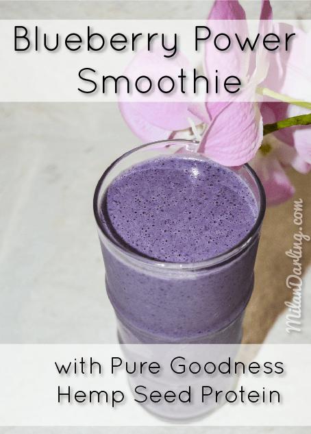 Blueberry Power Smoothie with Pure Goodness Hemp Protein Powder