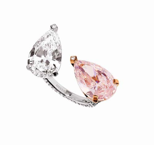 Messika Haute Joaillerie_Toi et Moi ring pear shape 7,03 and 7,22 carats[2]