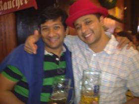 Brothers have fun in Oktoberfest, Munich Germany