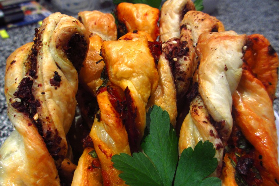 Pastry Twists (Olive Paste & Mediterranean)