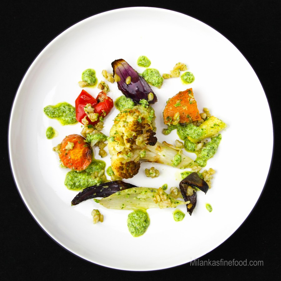 Roast Vegetable & Pearl Barley Salad