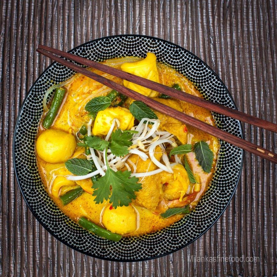 Malaysian Seafood Curry Laksa