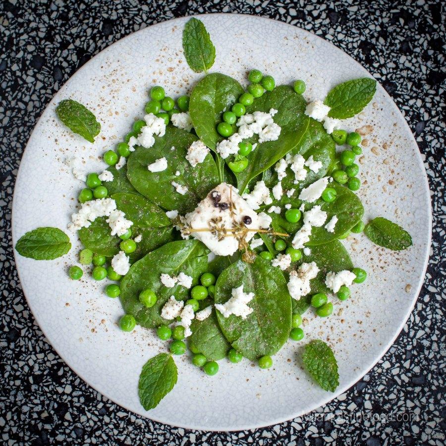 Spinach, Peas & Mint Salad