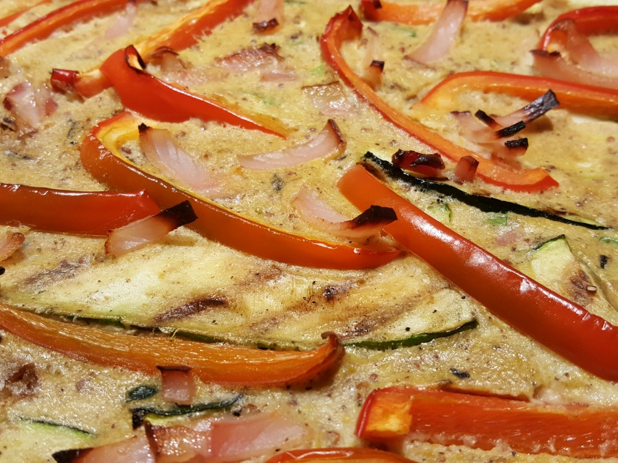 Smoky Bacon, Pepper, Courgette & Spring Onion Clafoutis