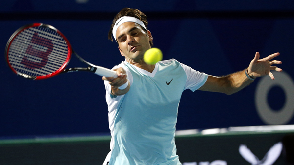 Il grande Roger Federer in un'immagine di repertorio  AFP PHOTO / KARIM SAHIB / AFP / KARIM SAHIB        (Photo credit should read KARIM SAHIB/AFP/Getty Images)