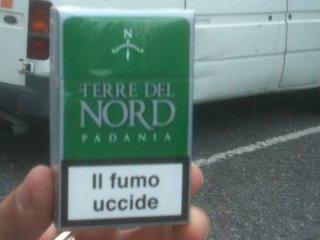 """Bergamo, in tabaccheria le sigarette col marchio """"Terre del Nord Padania"""""""