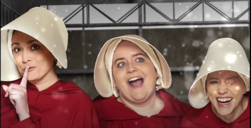 Shades of RED: Handmaids in the City???? (Laughter Against Fascism) | MILANO411