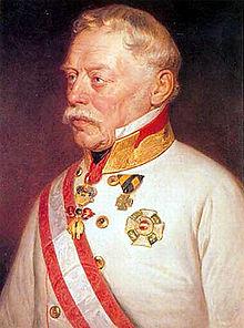 Ritratto del maresciallo austriaco Radetzky.