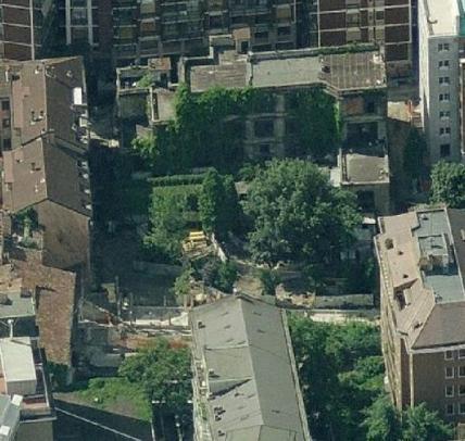Ecco come appariva l'area della Casa degli Artisti in Corso Garibaldi/Via Tommaso da Cazzaniga prima della riqualificazione