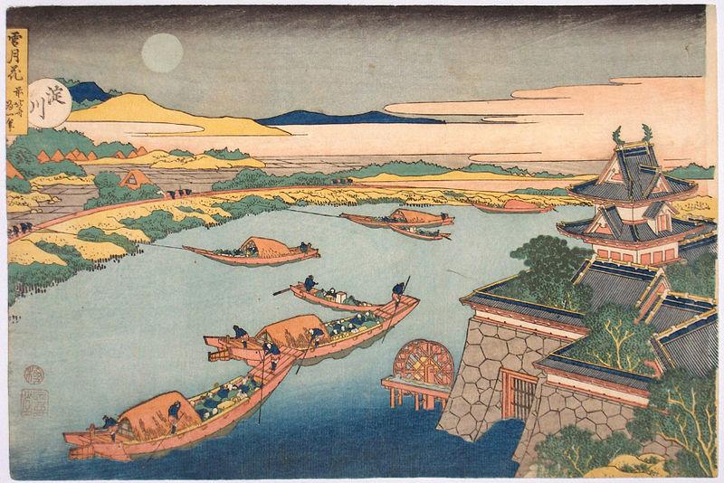 Hokusai- barche sul fiume