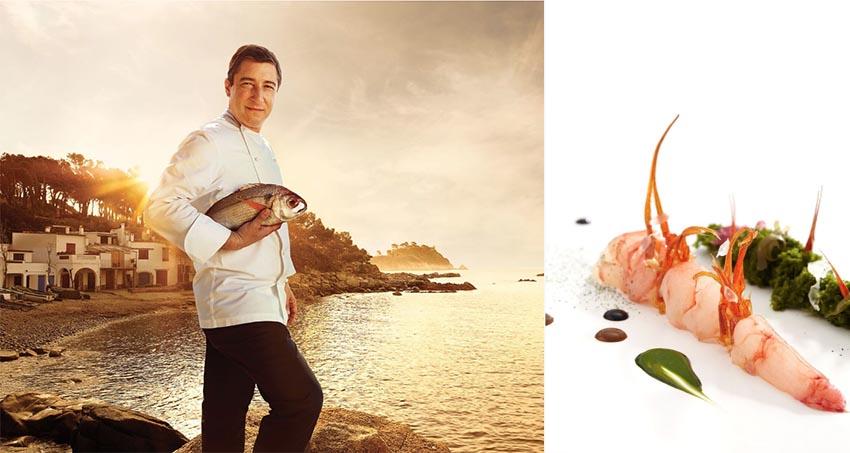Cuoco e pesce accoppiata