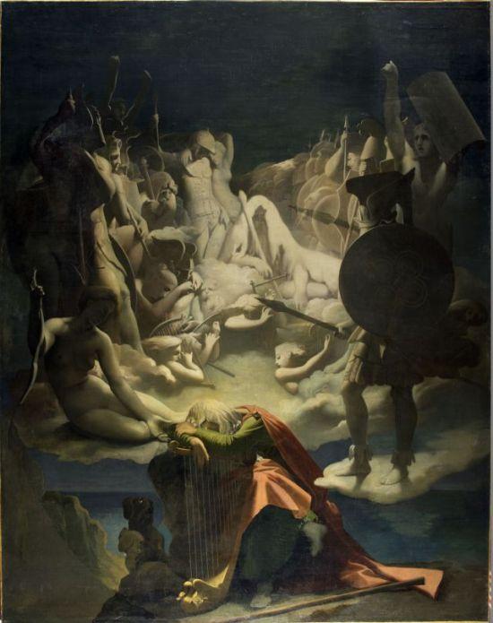 Dipinto olio su tela di Ingres: Il sogno di Ossian, 1813