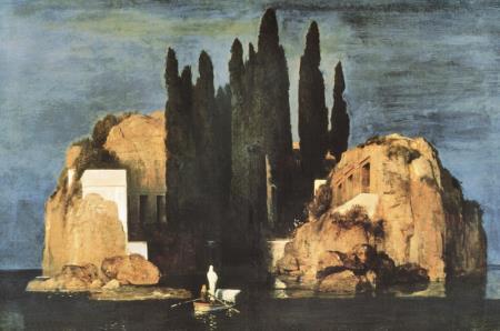 """""""L'Isola dei Morti"""" di Bocklin, prima versione."""