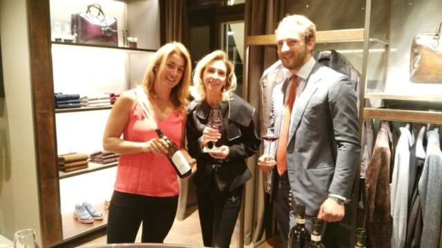 Alessandra Angelini, Melanie Payge, Lorenzo Gucci at Berluti