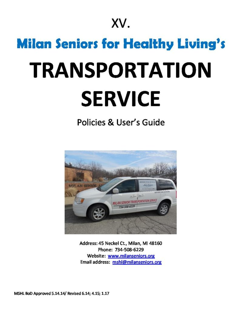 Transportation Users Guide
