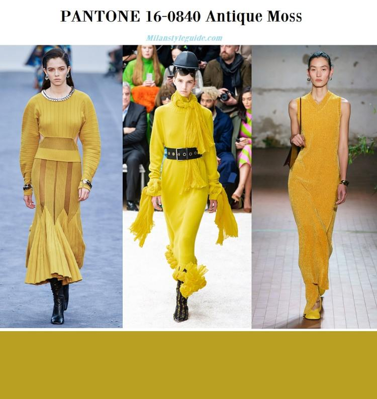 PANTONE 16-0840 Antique Moss fall winter 2019 2020