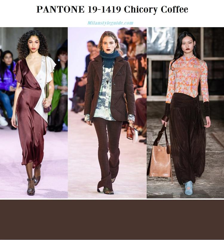 PANTONE 19-1419 Chicory Coffee fall winter 2019 2020