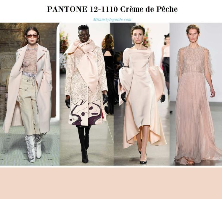 Pantone 12-1110 Crème de Pêche fall winter 2019 2020