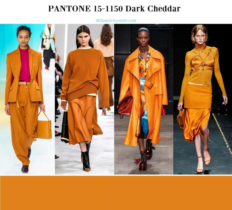 Pantone 15-1150 Dark Cheddar fall winter 2019 2020