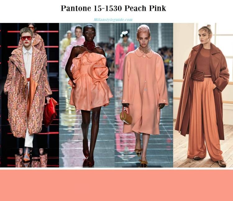 Pantone 15-1530 Peach Pink fall winter 2019 2020