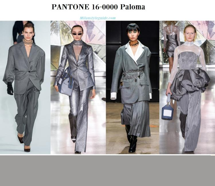 Pantone 16-0000 Paloma fall winter 2019 2020