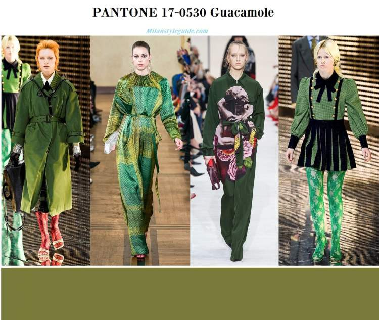 Pantone 17-0530 Guacamole fall winter 2019 2020