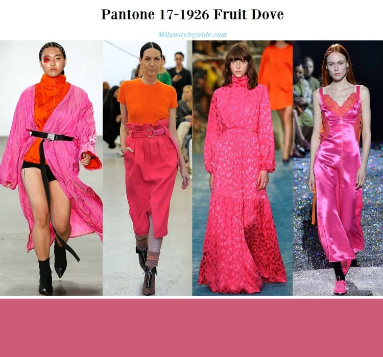 Pantone 17-1926 Fruit Dove fall winter 2019 2020