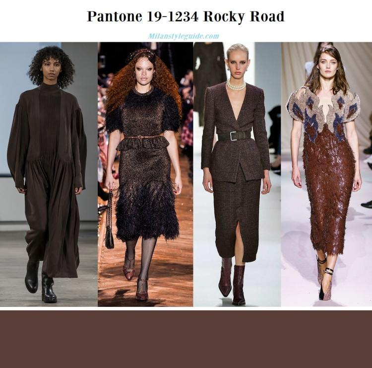 Pantone 19-1234 Rocky Road fall winter 2019 2020