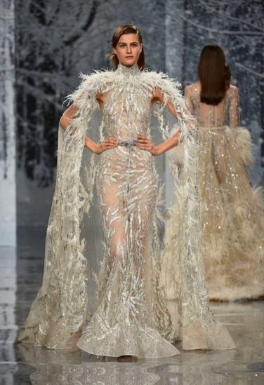 Свадебное платье Ziad Nakad с накидкой Haute Couture 2017