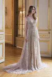 свадебное платье кружево мягкая юбка Париж