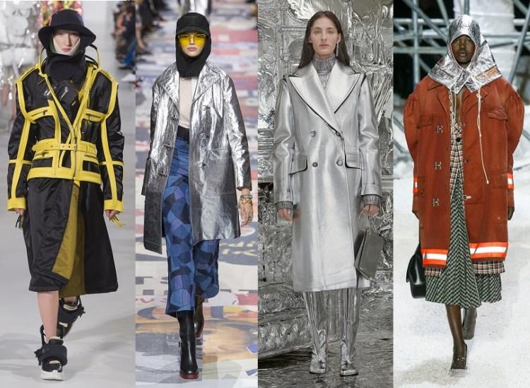 модные пальто осень 2018 тренд хай-тек