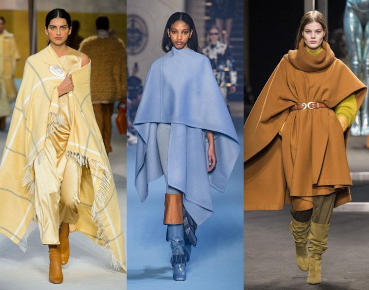 модные модели пончо осень 2018