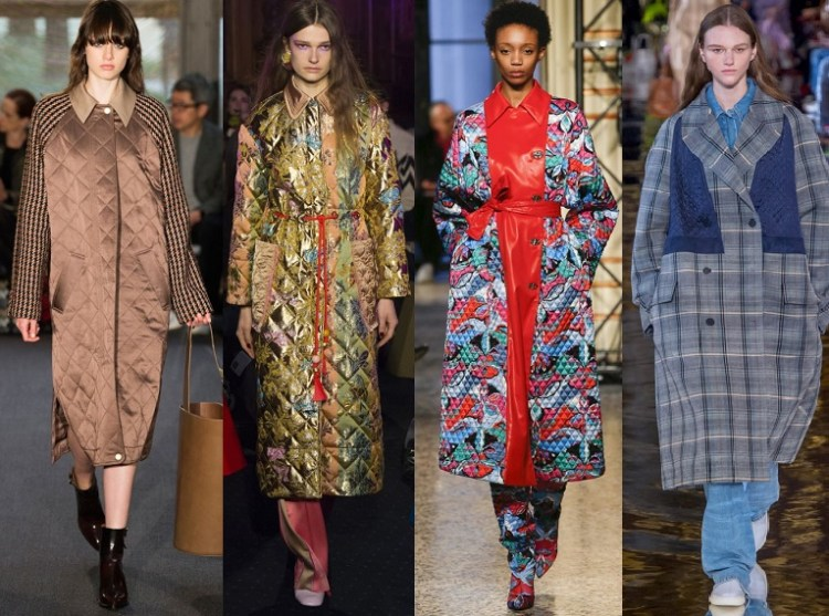 модные модели пальто осень 2018 - тренд стежка