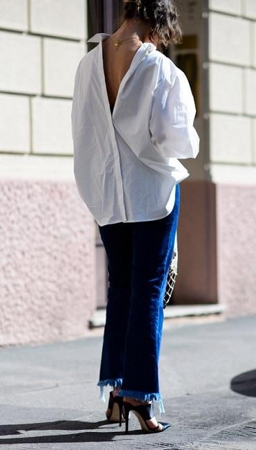 как модно можно носить белую рубашку в 2020 оду
