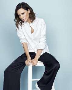 Victoria beckham в белой рубашке