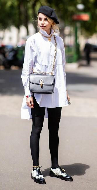 модная белая рубашка с длинным рукавом - стильные образы с белой рубашкой
