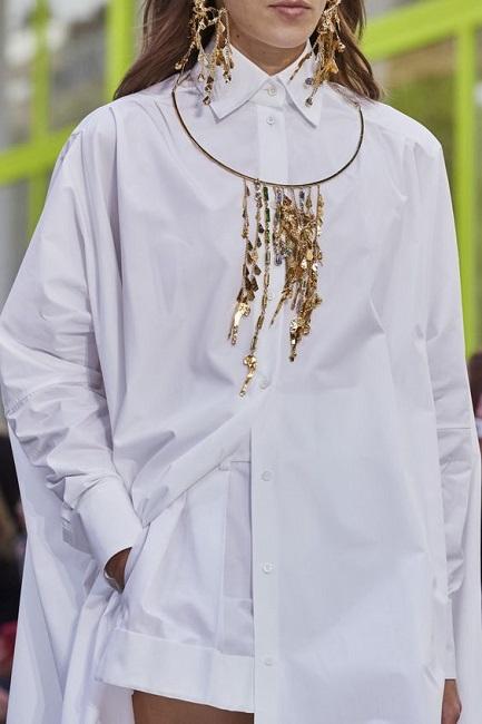 белая рубашка с длинным рукавом оверсайз Valentino